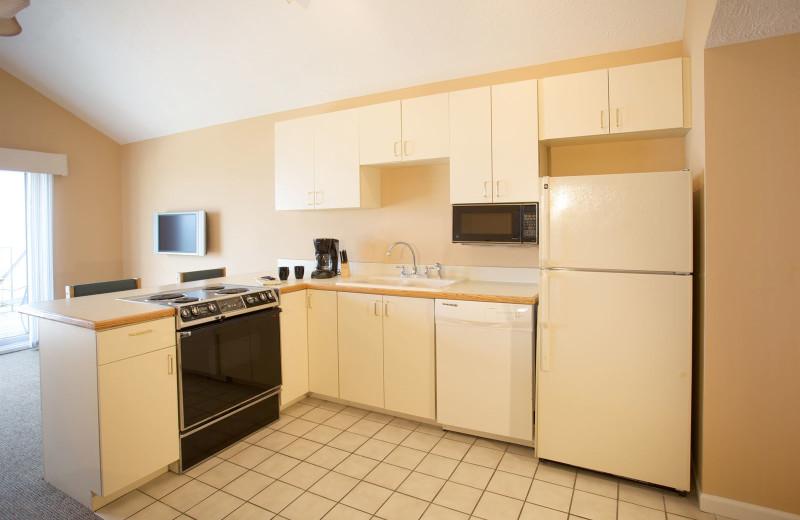 Guest kitchen at Pointes North Beachfront Resort Hotel.