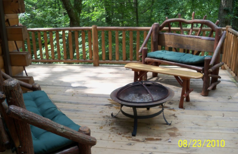Cabin deck at Cabins in Hocking.