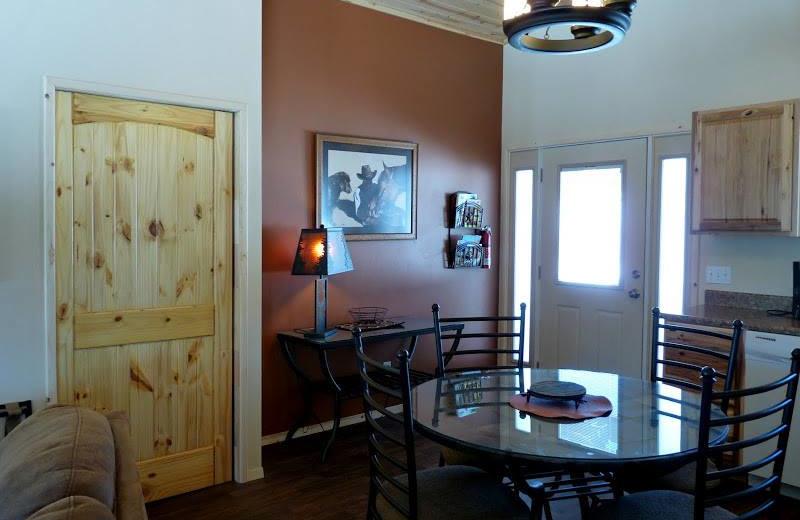 Cabin dining room at Morris' Last Resort.