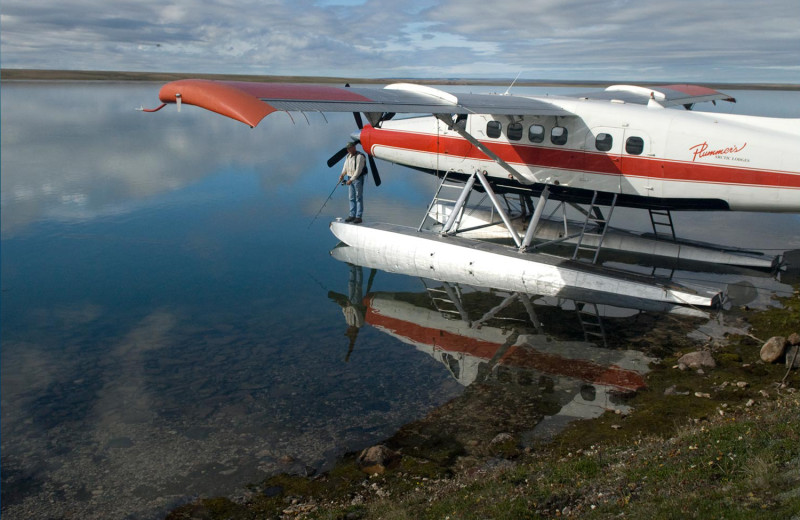 Sea plane at Plummer's Arctic Fishing Lodges.