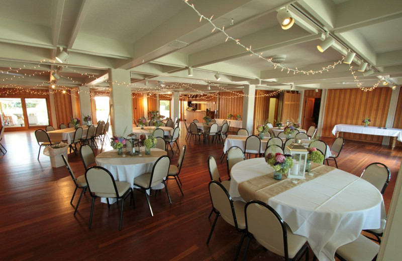 Wedding reception at The Leland Lodge and Conference Center.