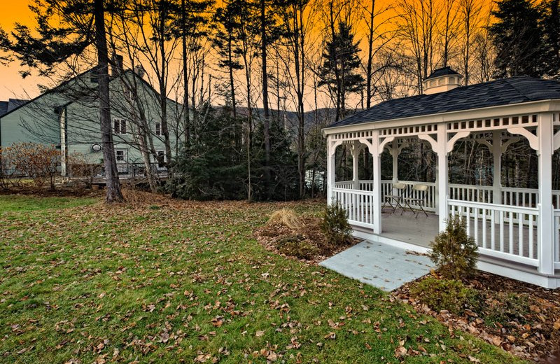 Outdoor gazebo at Waterville Valley Conference Center, adjacent to Silver Fox Inn.