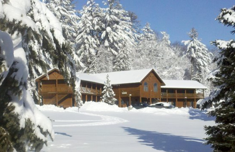 Winter at Northwoods Lodge.