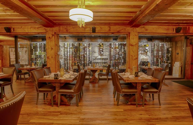 Dining at Lutsen Resort on Lake Superior.