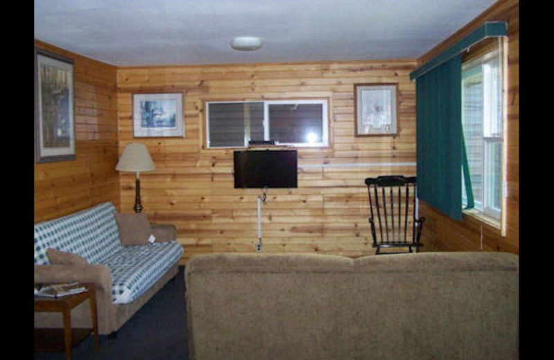 Cabin interior at Sunset Haven.