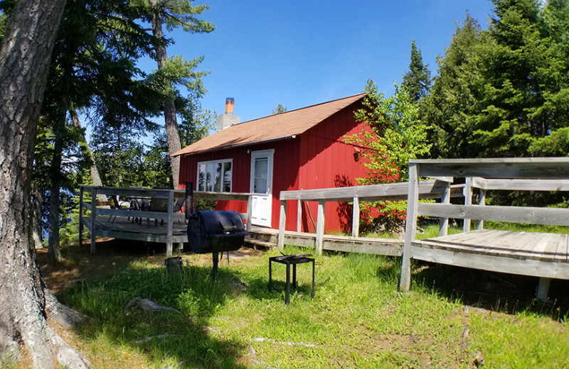 Cottage exterior at Nor'Wester Lodge
