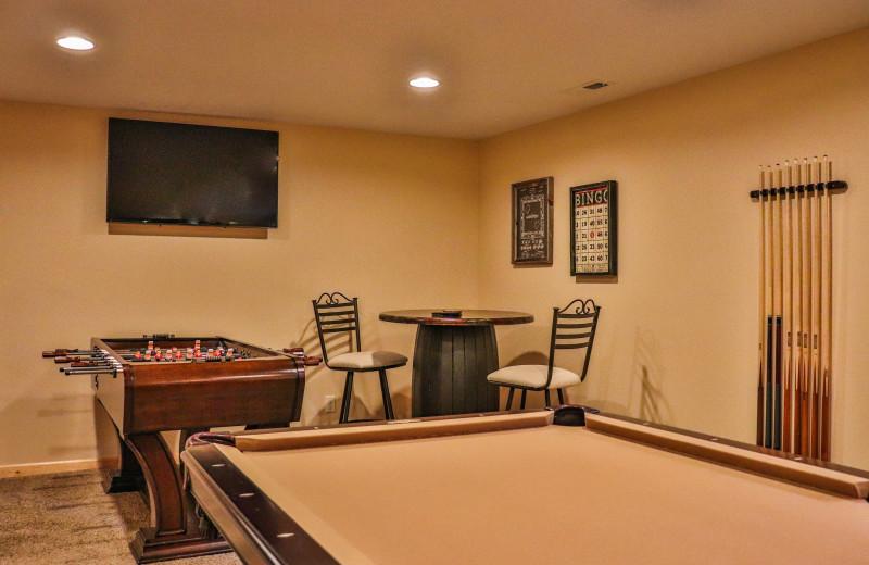 Villa rec room at Wilderness Resort Villas.