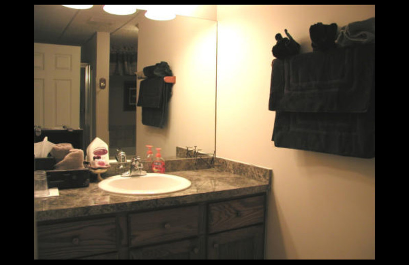 Guest bathroom at Canterbury Chateau Bed & Breakfast.
