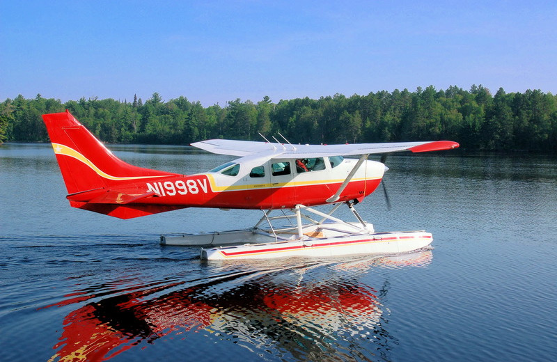 Water plane at Cabin O'Pines Resort & Campground.