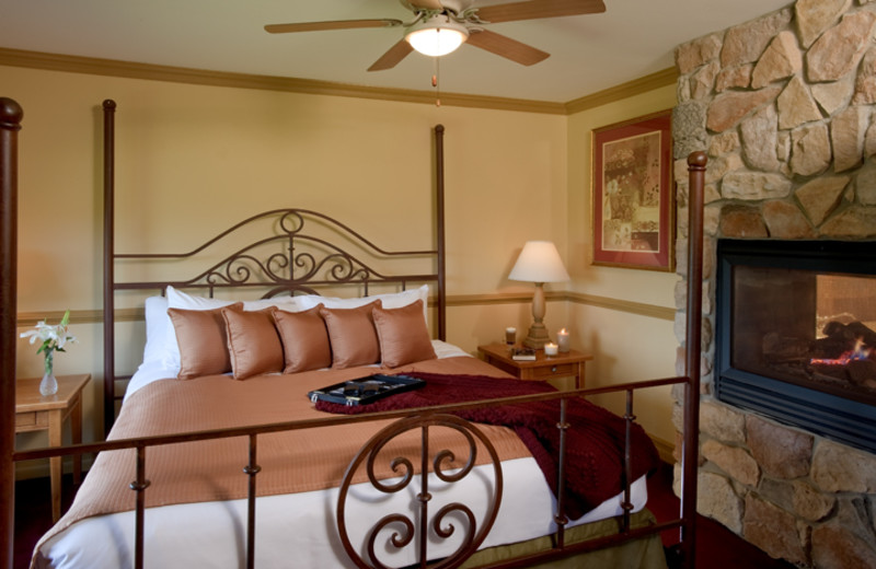 Guest bedroom at Crystal Springs Resort.