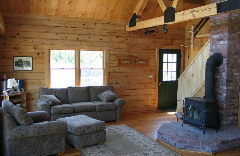 Rental living room at Franconia Notch Vacations Rental & Realty.