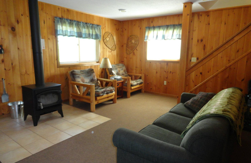 Cabin living room at YMCA Camp Northern Lights.