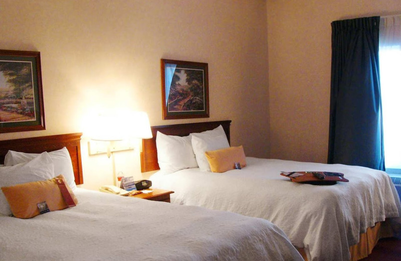 Guest room at Hampton Inn & Suites Springfield.