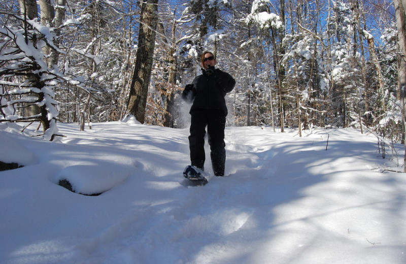 Snow shoe at Steele Hill Resorts.