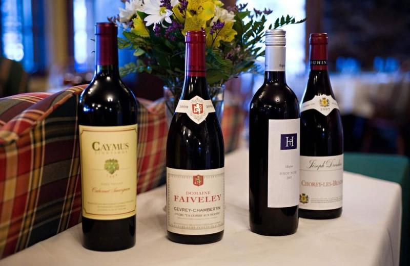 Wines at Alpenhof Lodge.