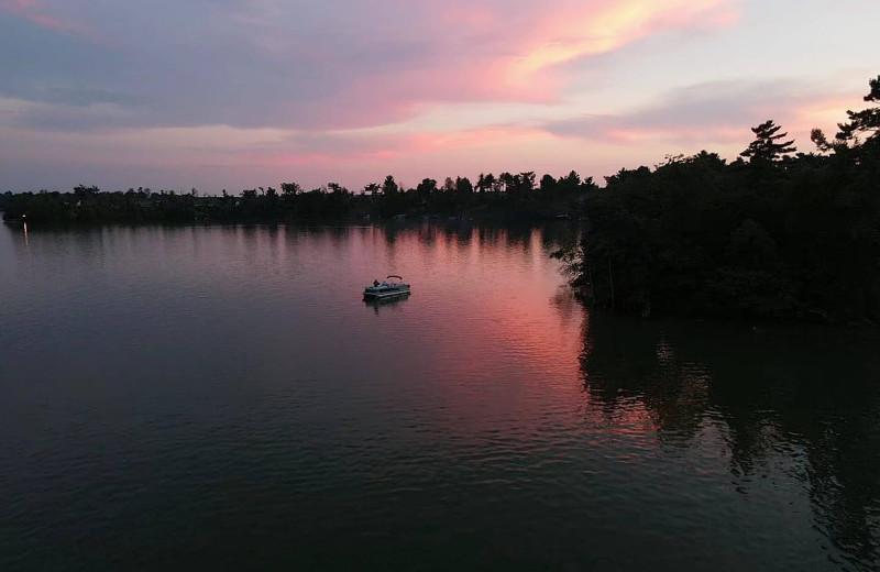 Lake view of Shady Grove Resort.