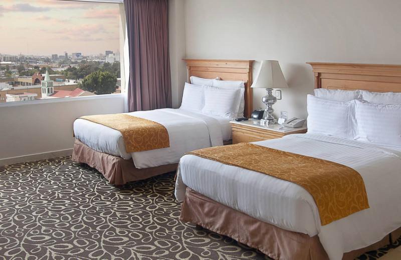 Guest room at Tijuana Marriott Hotel.