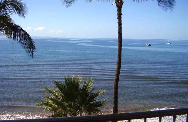 Balcony view at Sugar Beach Resort.