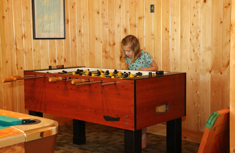Foosball at Pine Terrace Resort.