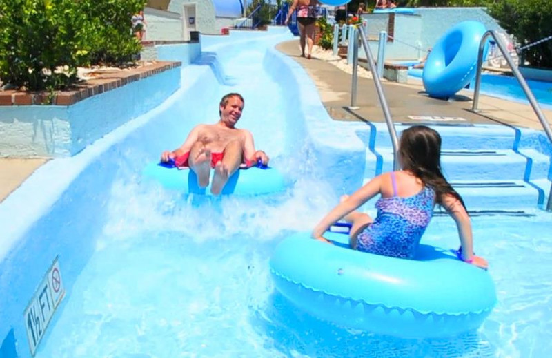 Family At Water Park at Sea Mist Oceanfront Resort