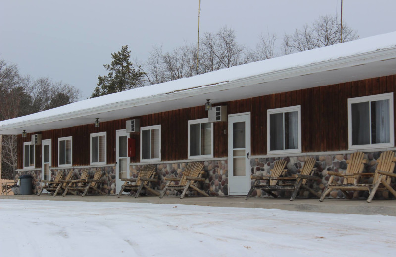 Exterior view of Popp's Resort.