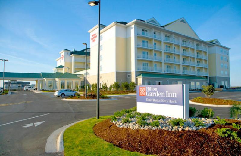 Exterior view of Hilton Garden Inn Outer Banks.