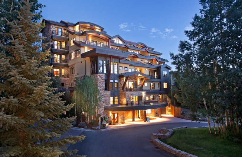 Exterior view of Lumiere Telluride. A boutique luxury hotel ski in-ski out.