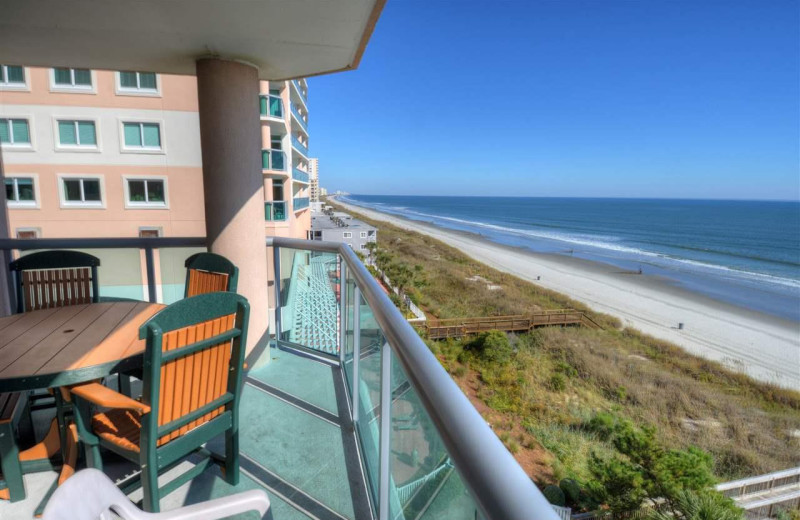 Rental balcony at CondoLux Vacation Rentals.