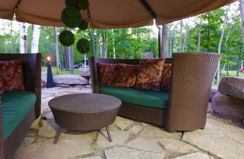 Just one of many intimate seating areas for guests to enjoy.