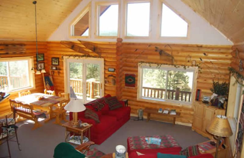 Cabin living room at Range Property Management.
