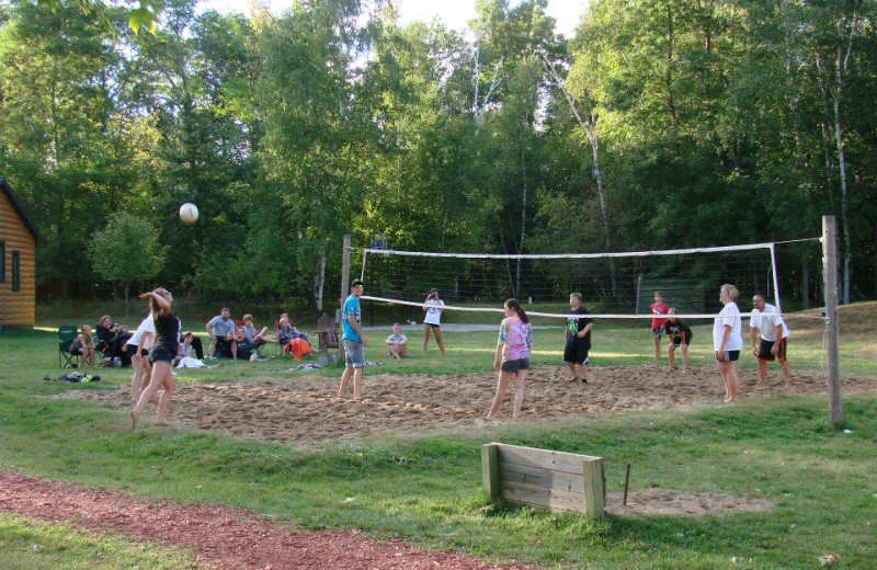 Volleyball court at Hyde-A-Way Bay Resort.
