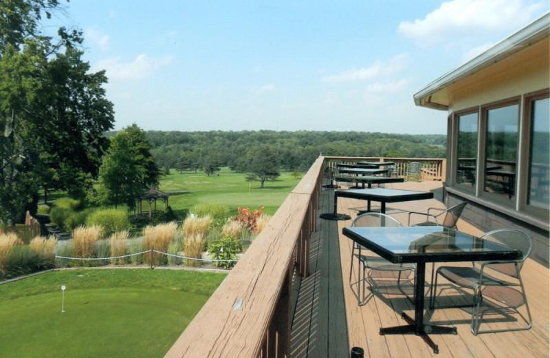Deck view at Cross Creek Resort.