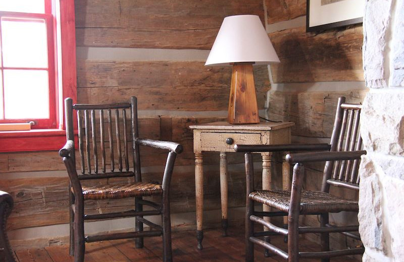 Cabin chairs at Bartlett Lodge.