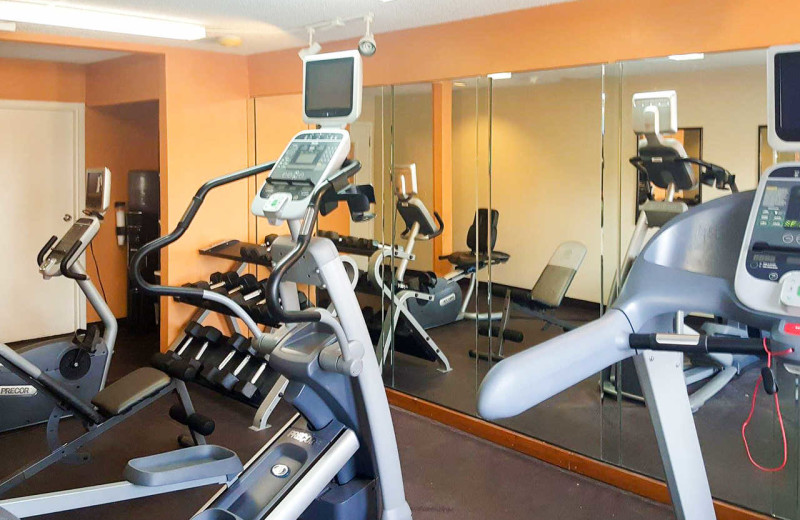 Fitness room at Quality Inn & Suites Airport North.