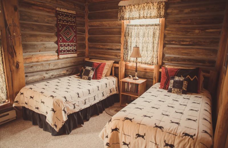 Guest bedroom at Vee Bar Guest Ranch.