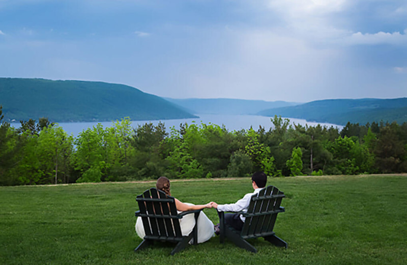 Weddings couple at Bristol Harbour Resort on Canandaigua Lake.