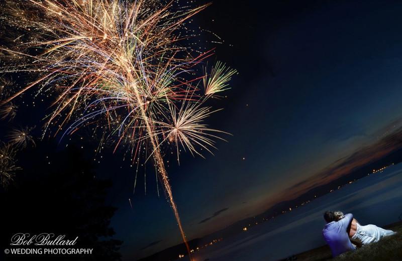 Wedding fireworks at The Margate on Winnipesaukee.