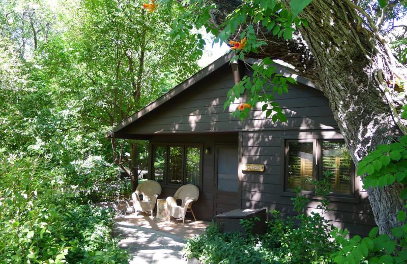 Cabin exterior at Briar Patch Inn.
