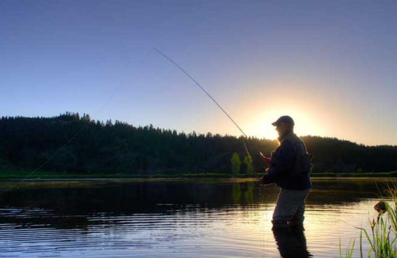 Fishing at Grand Lodge on Peak 7.