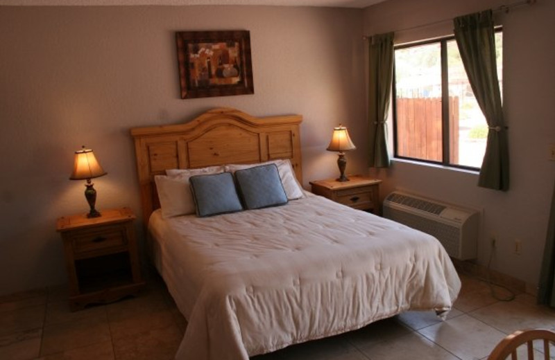 Guest bedroom at Red Agave Resort.