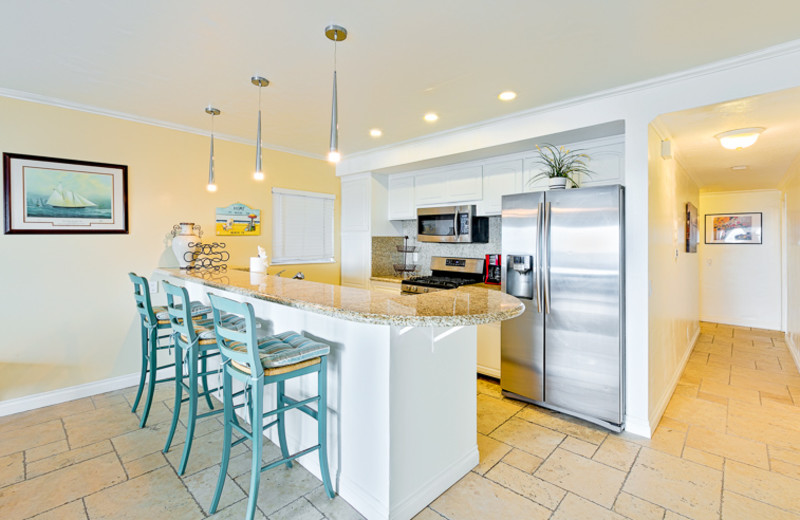 Rental kitchen at Seabreeze Vacation Rentals, LLC-Orange County.