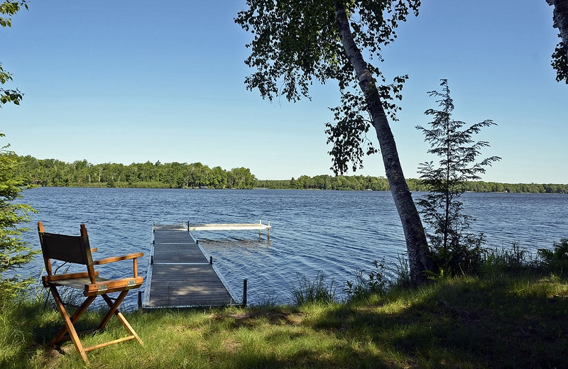 Lake view at North Country Vacation Rentals.