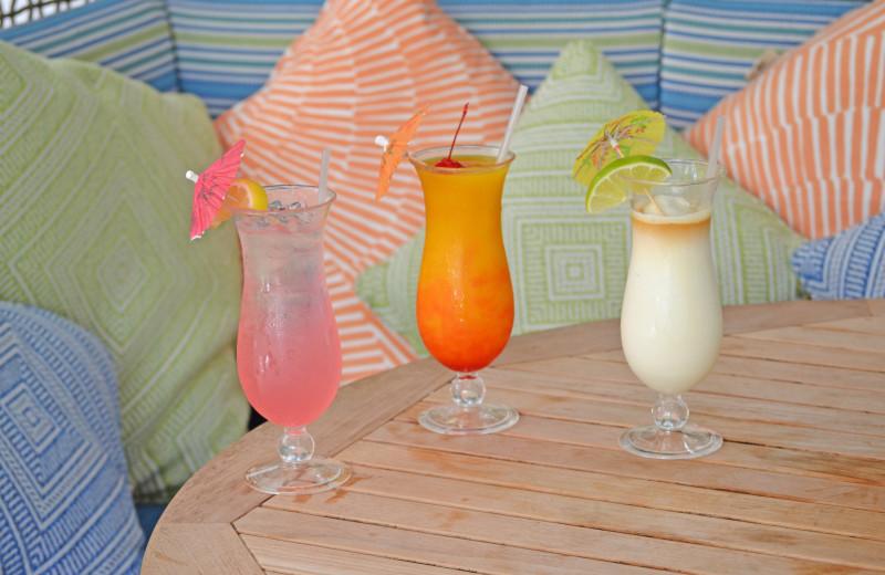Drinks at Parrot Key Resort.