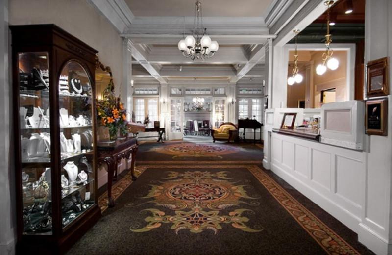Hotel interior at Columbia Gorge Hotel.