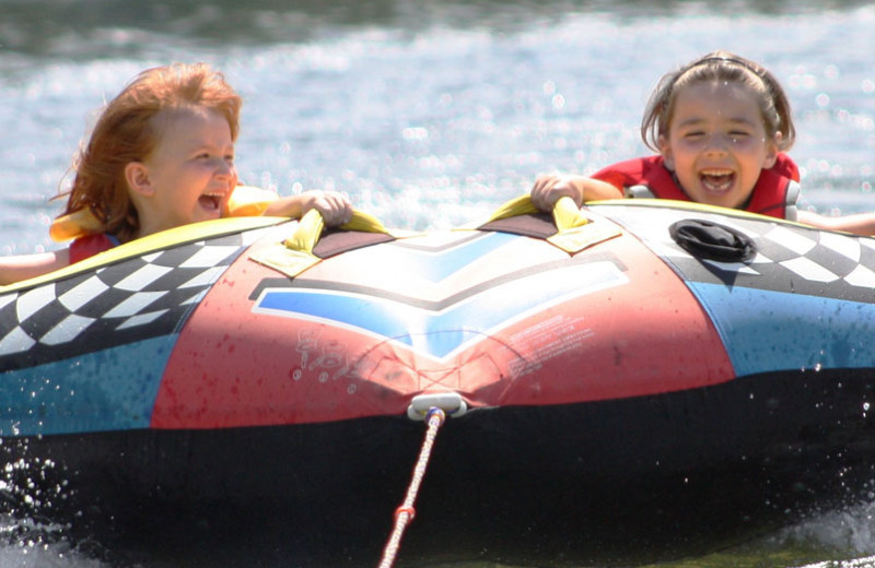 Water tubing at Pine Vista Resort.