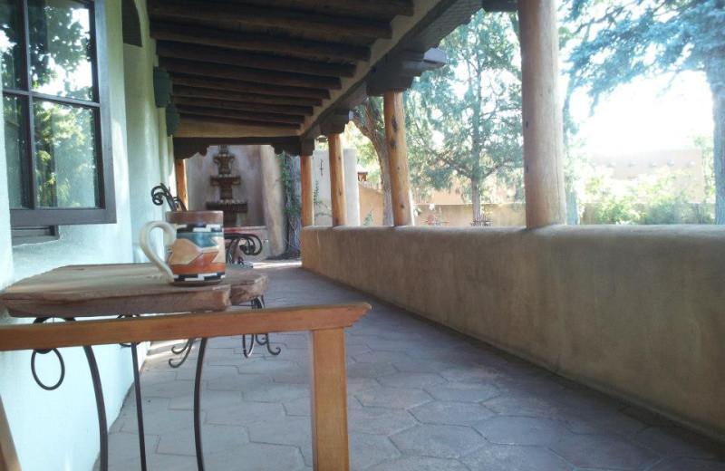 Porch view at Inn on La Loma Plaza