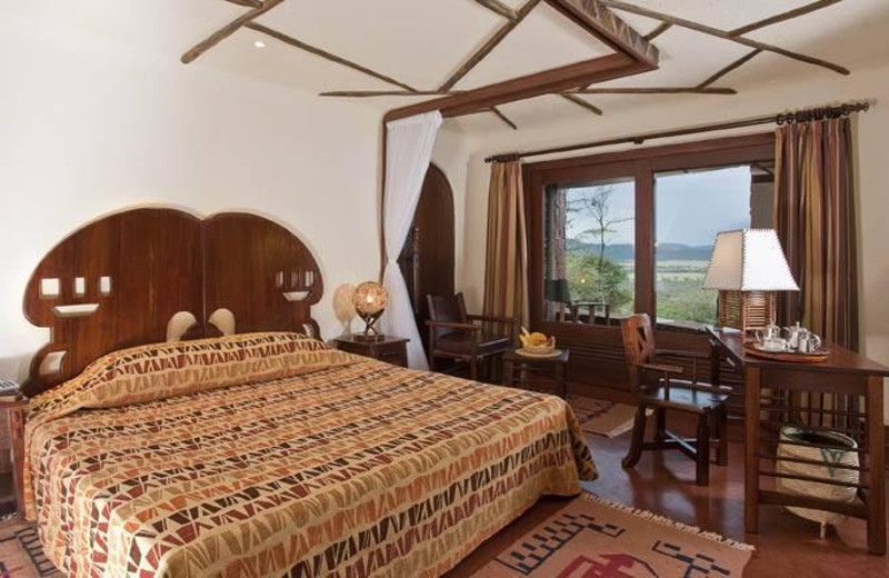 Guest room at Serengeti Serena Safari Lodge.