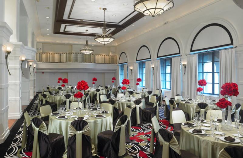 Banquet room at Allerton Hotel.