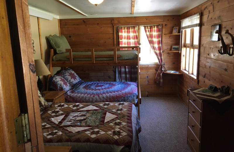 Guest bedroom at Ghost Canyon Ranch.