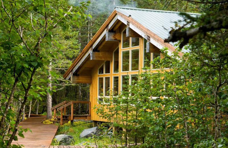 Lodge exterior at Kenai Fjords Glacier Lodge.